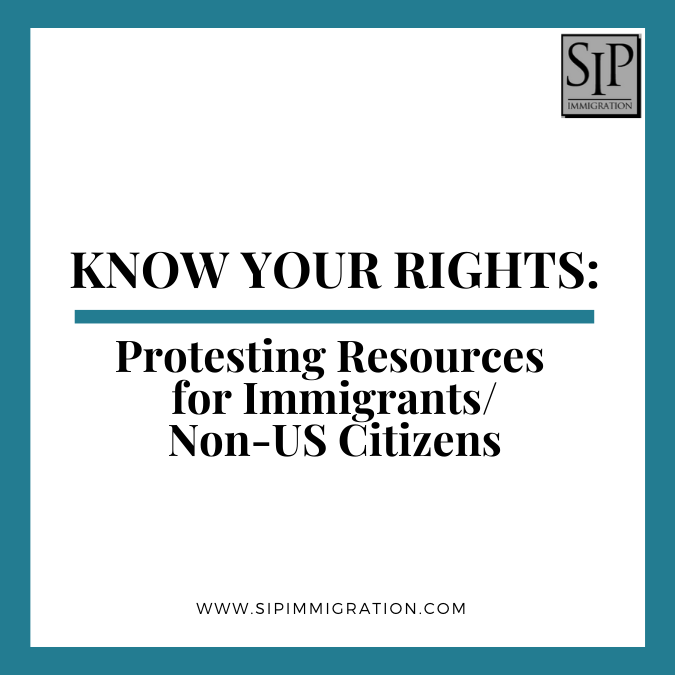 Know‌ ‌Your‌ ‌Rights‌ ‌-‌ ‌Protesting‌ ‌Resources‌ ‌for‌ ‌Immigrants/Non-US‌ ‌Citizens‌